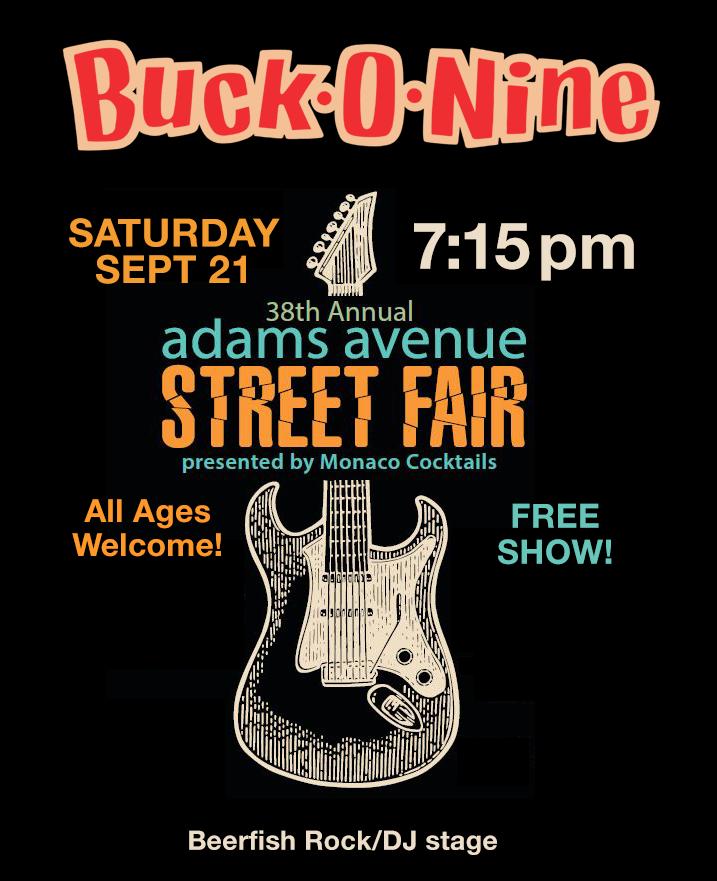 buck-o-nine adams ave street fair 2019