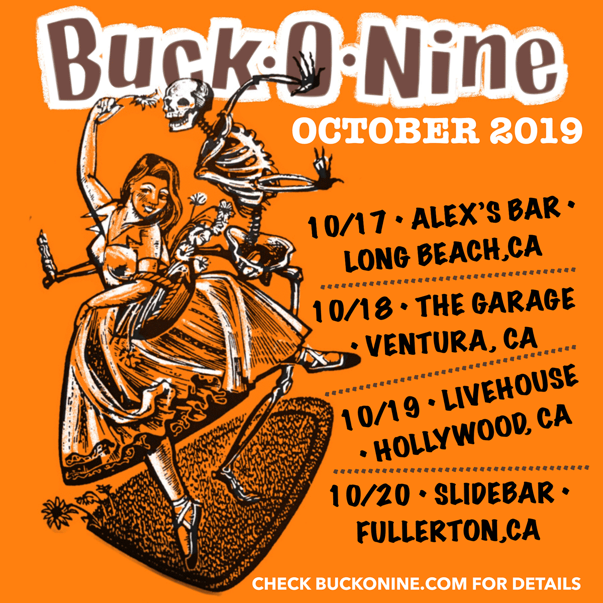 Buck-O-Nine Live dates in 2019