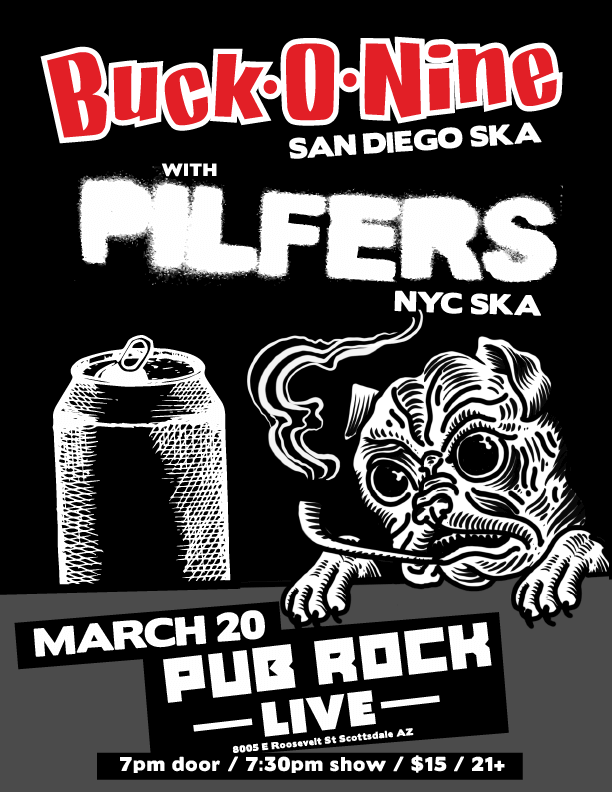 Buck-O-Nine Pilfers Pub Rock Live
